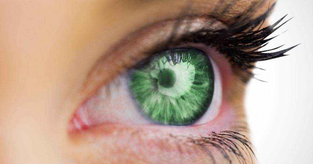 Eyes looking at a computer screen